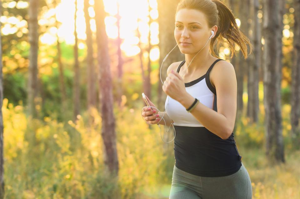 běhání v přírodě