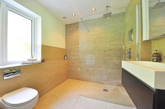prosklený sprcháč