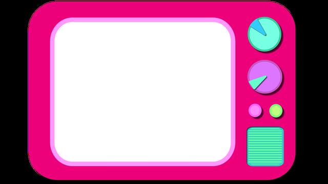 růžová televize ilustrace