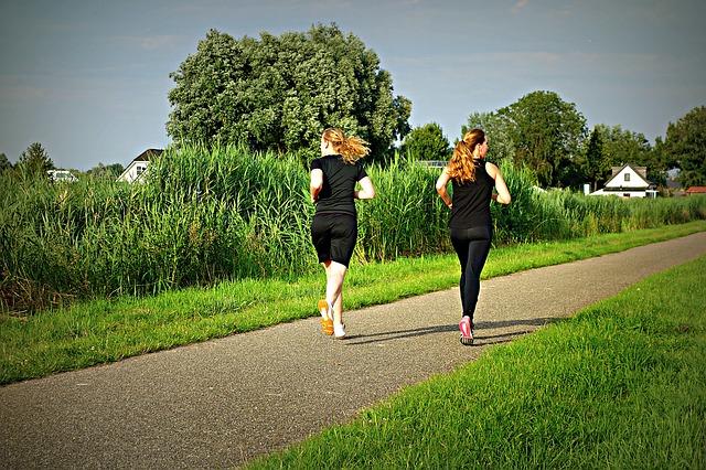 kondiční běh dívek